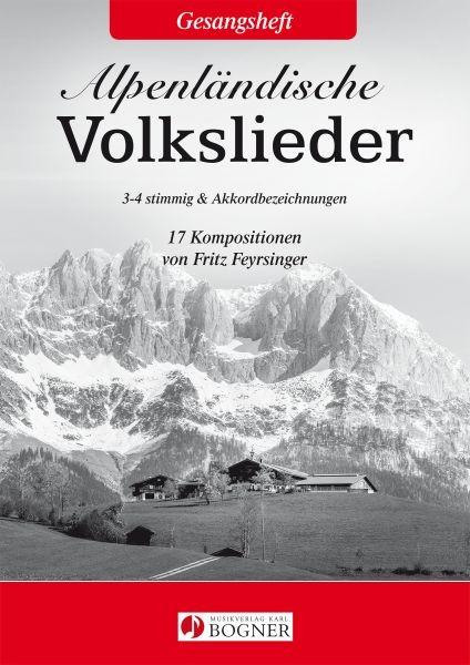 Alpenländische Volkslieder Notenbuch