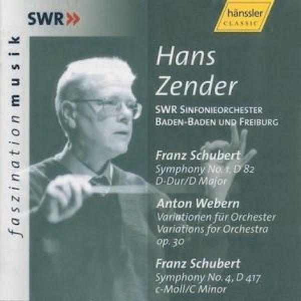 Schubert/Webern: Sinfonie 1+4/Variationen
