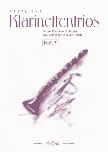Festliche Klarinettentrios Heft 7