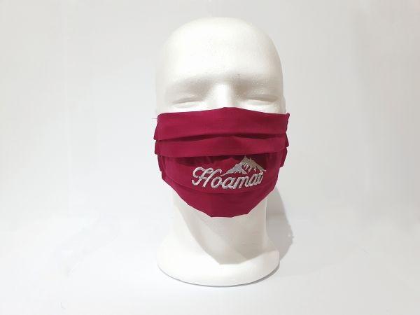 Nasen-Mund-Maske Hoamat weinrot