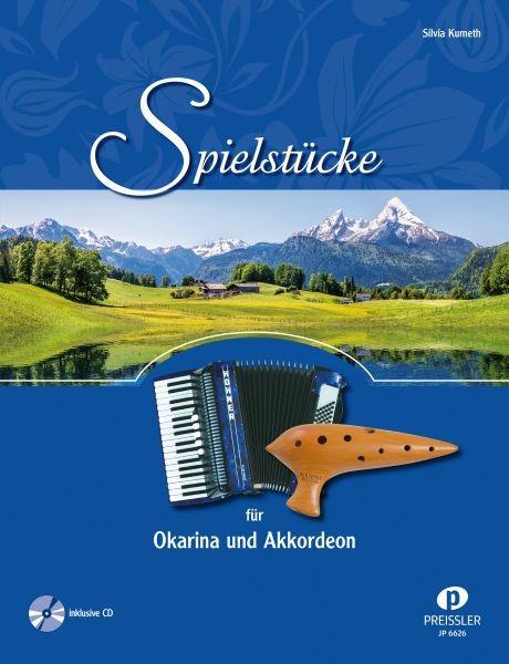 Spielstücke für Okarina und Akkordeon mit CD