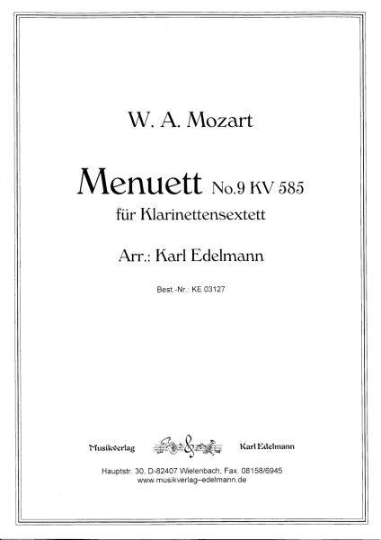 Menuett No.9 KV 585, W.A. Mozart