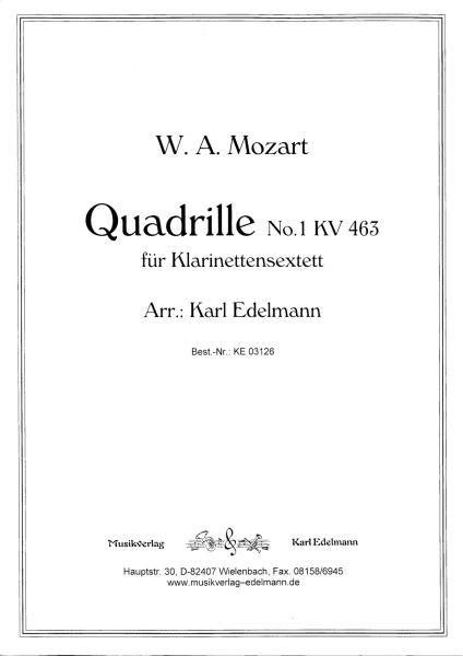 Quadrille No.1 KV 463, W.A. Mozart