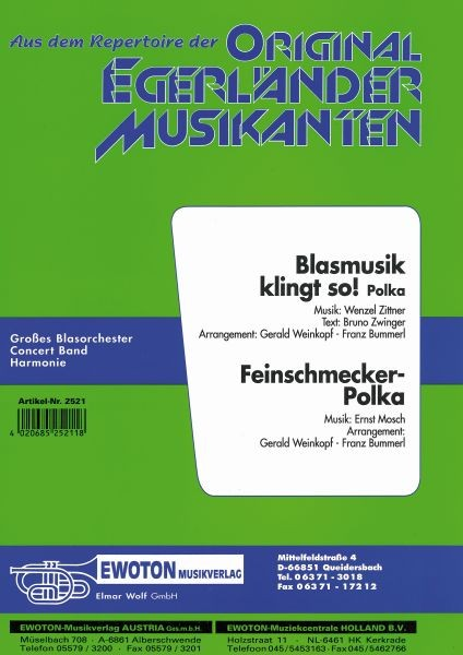 Blasmusik klingt so! (Polka) / Feinschmecker Polka